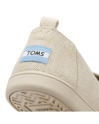 TOMS - Womens Natural Metallic Linen Deconstructed Espadrilles - Lyst