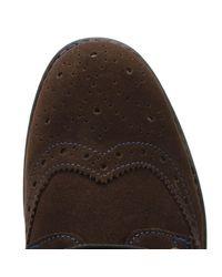 Original Penguin - Mens Brown/diva Blue Linco Suede Shoes for Men - Lyst