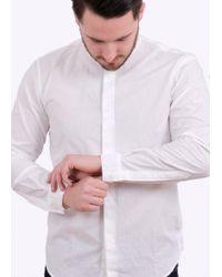 Folk - White Grandad Shirt for Men - Lyst