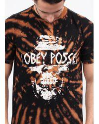 Obey - Black Posse Tiedye Tee for Men - Lyst