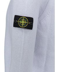 Stone Island - Blue Lambswool Knitted Jumper for Men - Lyst