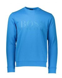 BOSS - Blue Salbo Sweat for Men - Lyst