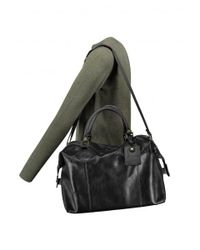 Barbour | Black Leather Medium Travel Bag | Lyst