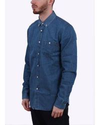 Obey - Blue Keble Woven Ls for Men - Lyst