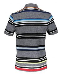 Lacoste - Blue Colour Stripe Polo for Men - Lyst