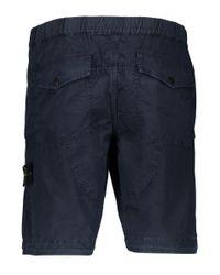 Stone Island - Blue Bermuda Shorts for Men - Lyst