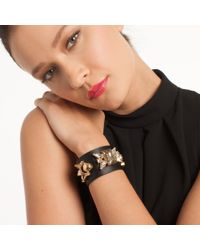 Trina Turk - Black Starburst Leather Bracelet - Lyst