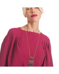 Trina Turk - Multicolor Sunset Pendant Necklace - Lyst