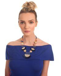 Trina Turk - Blue Golden State Fringe Statement Necklace - Lyst