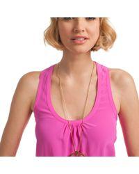 Trina Turk - Gray Bodrum Pendant Necklace - Lyst