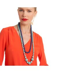 Trina Turk - Multicolor 2 Row Beaded Necklace - Lyst