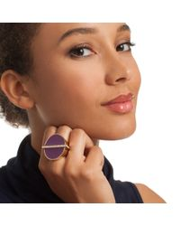 Trina Turk - Purple Cabochon Cocktail Ring - Lyst