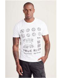 True Religion | White Throwback Logo Mens Tee for Men | Lyst
