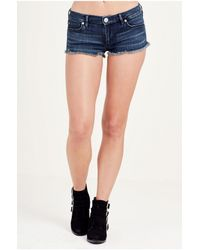 True Religion | Blue Joey Cut Off Womens Short | Lyst