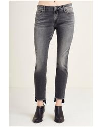 True Religion | Blue Halle Super Skinny Step Hem Womens Jean | Lyst