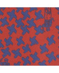 Turnbull & Asser | Multicolor Artist X Red And Blue Houndstooth Silk Tie for Men | Lyst
