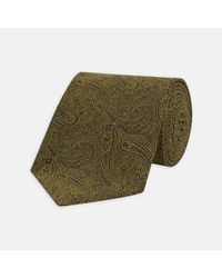 Turnbull & Asser - Green Yellow Artisan Paisley Silk Tie for Men - Lyst