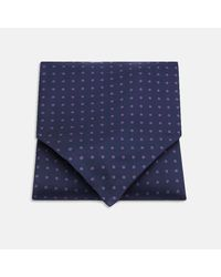 Turnbull & Asser | Blue Navy And Purple Spot Silk Ascot Tie for Men | Lyst