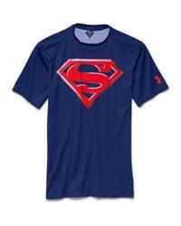 Under Armour - Blue Men's ® Alter Ego Superman Compression Shirt for Men - Lyst