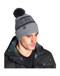 Under Armour - Black Men's Ua Retro Pom 2.0 Beanie for Men - Lyst
