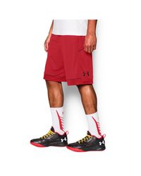 Under Armour | Red Men's Ua Baseline Basketball Shorts for Men | Lyst