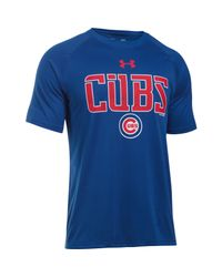 Under Armour | Blue Men's Chicago Cubs Team Tech™ T-shirt for Men | Lyst