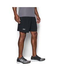 Under Armour   Black Men's Ua Launch Sw 7'' Shorts for Men   Lyst