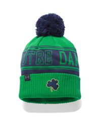 Under Armour | Green Men's Notre Dame Ua Pom Beanie for Men | Lyst