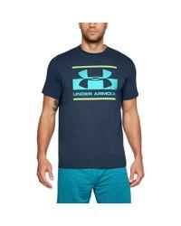 Under Armour - Blue Men's Ua Blocked Sportstyle Logo for Men - Lyst