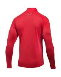 Under Armour - Red Men's Nfl Combine Authentic Ua Techtm Twist 1⁄4 Zip Long Sleeve Shirt for Men - Lyst