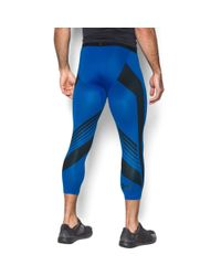 Under Armour - Blue Men's Heatgear® Supervent Compression 3⁄4 Leggings for Men - Lyst