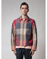 Acne - Red Miles Check Pss18 for Men - Lyst