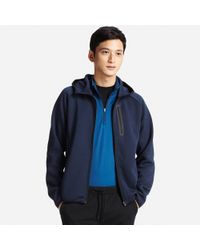 Uniqlo - Blue Men Dry Stretch Long Sleeve Sweat Full-zip Hoodie for Men - Lyst
