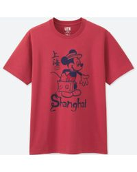 Uniqlo | Red Men Mickey Travels Short-sleeve Graphic T-shirt for Men | Lyst