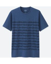 Uniqlo - Men Mickey Blue Short Sleeve Graphic T-shirt for Men - Lyst