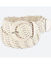 Uniqlo - White Wide Mesh Belt - Lyst