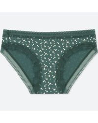 Uniqlo - Green Women Dot-print Bikini - Lyst