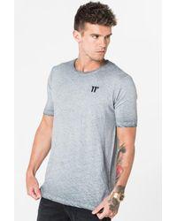 11 Degrees - Gray Oil Dye T-shirt for Men - Lyst