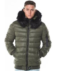 Sixth June Green Puffer Jacket for men