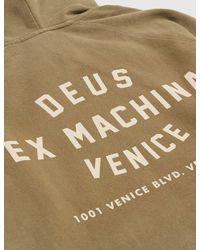 Deus Ex Machina | Brown Sunbleached Milan Hooded Sweatshirt for Men | Lyst