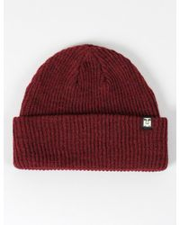 Obey | Red Ruger Beanie Hat for Men | Lyst