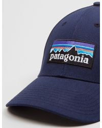 Patagonia - Blue P-6 Logo Stretch Fit Hat for Men - Lyst