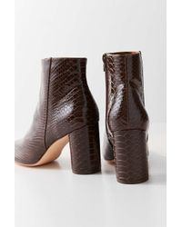 Urban Outfitters - Brown Sabrina Faux Snakeskin Ankle Boot - Lyst