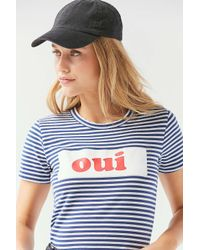 Truly Madly Deeply - Blue Striped French Tee - Lyst