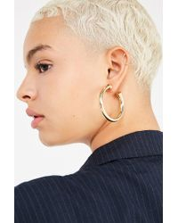 Urban Outfitters - Metallic Chunky Hollow Hoop Earring - Lyst
