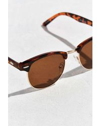 Urban Outfitters - Brown Mass Round Sunglasses for Men - Lyst