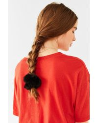 Urban Outfitters | Black Fuzzy Scrunchie | Lyst