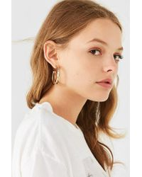 Urban Outfitters - Metallic Doubled Hoop Earring - Lyst