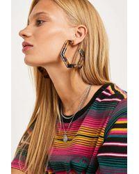 Urban Outfitters - Brown Geo Resin Statement Hoop Earrings - Womens All - Lyst