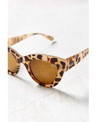 Quay | Brown Kittie Cat-eye Sunglasses | Lyst